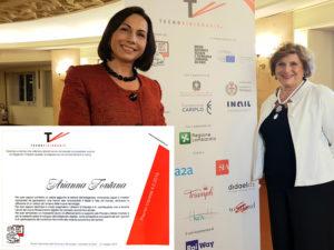 premio Tecnovisionaria 2018 conferito dall'associazione Women&Tech, con la presidente Gianna Martinengo